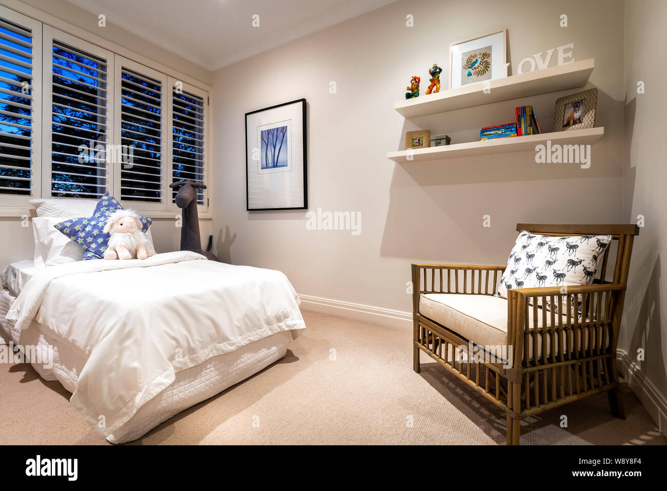 Sydney, Australia - August 1 2019: Child\'s bedroom in a ...