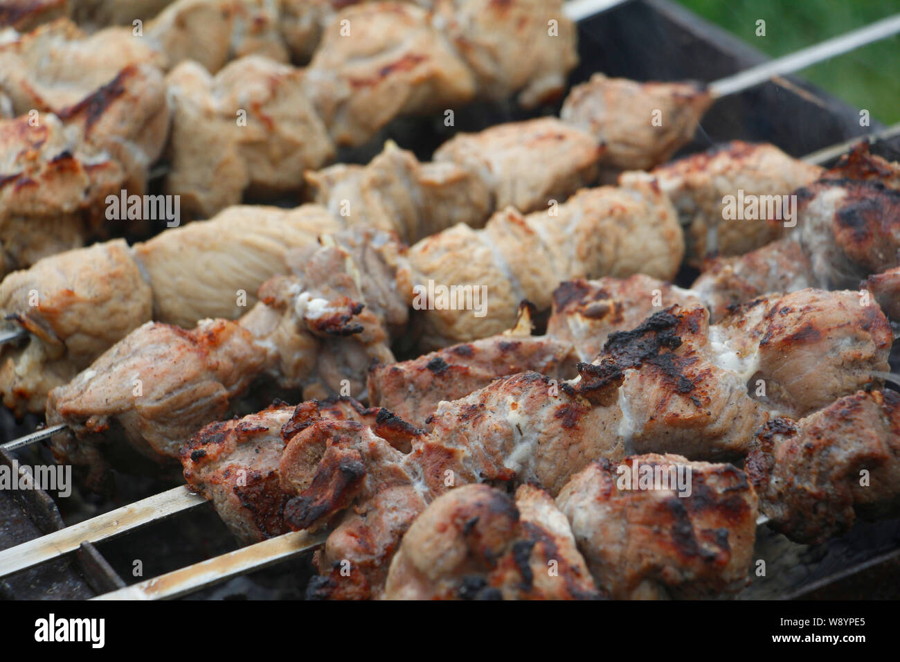 Kebab Shish 5 Pcs SET Stainless Steel Barbecue BBQ Traditional Made in TURKEY