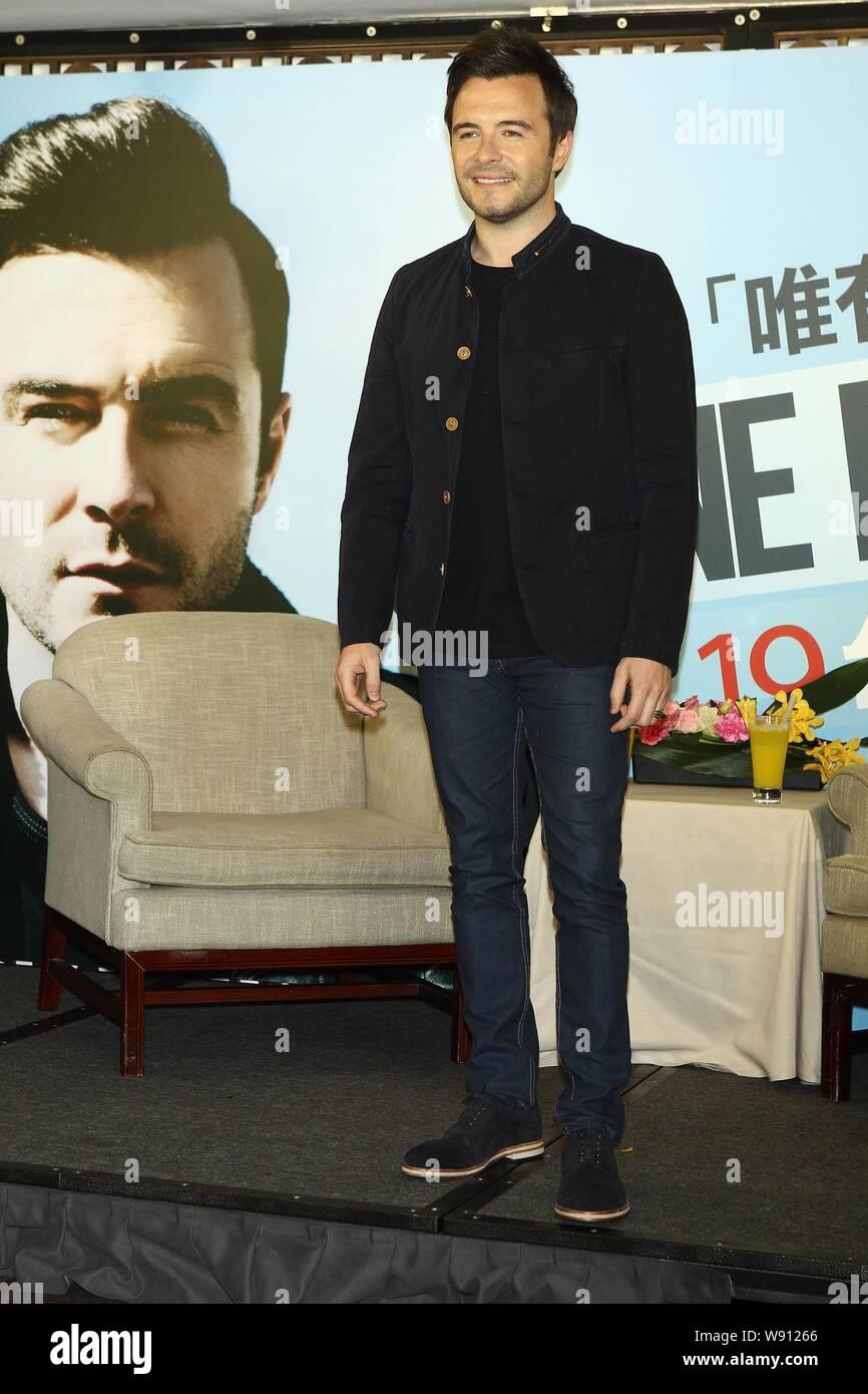 Irish singer Shane Filan of former boy group Westlife poses