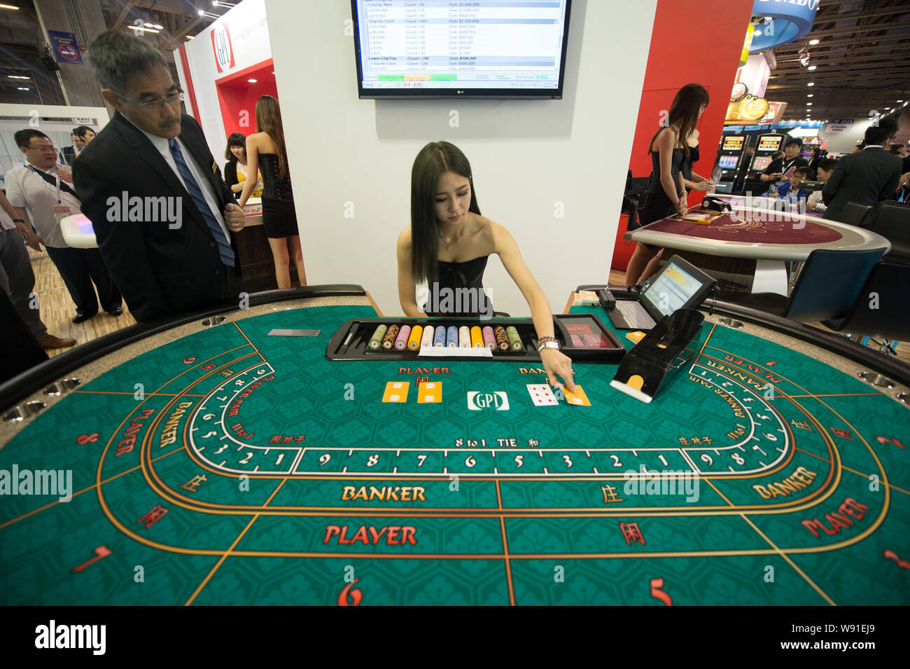 Macau Casino Woman High Resolution Stock Photography And Images Alamy