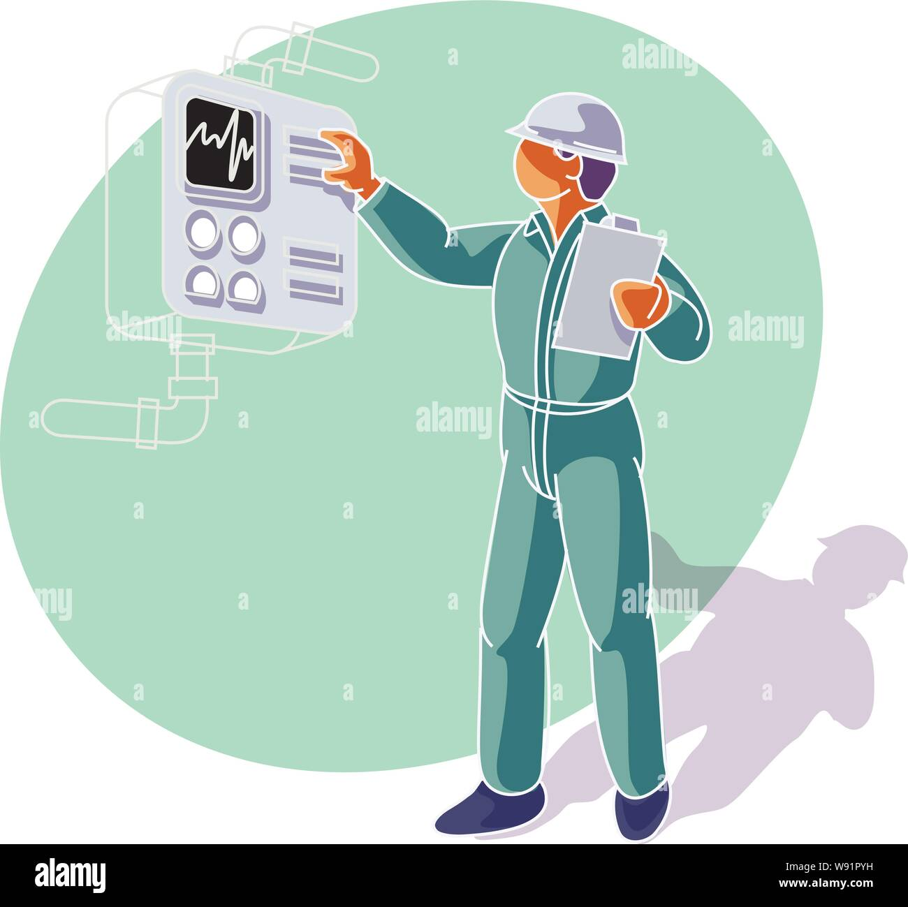 28 Technician Vectors High Resolution Stock Photography and Images ...