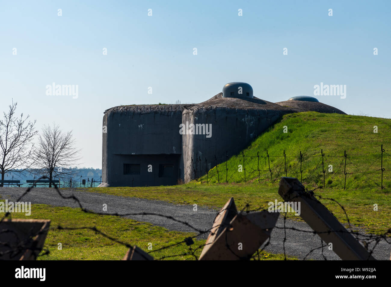 MO-S 19 Alej fort near Hlucin town in Czech republic during nice springtime day Stock Photo