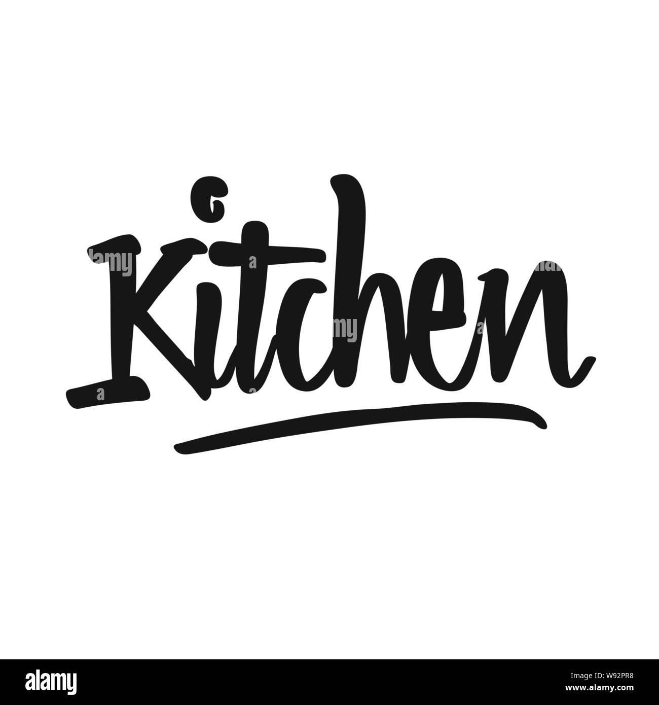 graphic regarding Printable Kitchen Art titled Kitchen area handwritten lettering. Printable Kitchen area artwork indicator