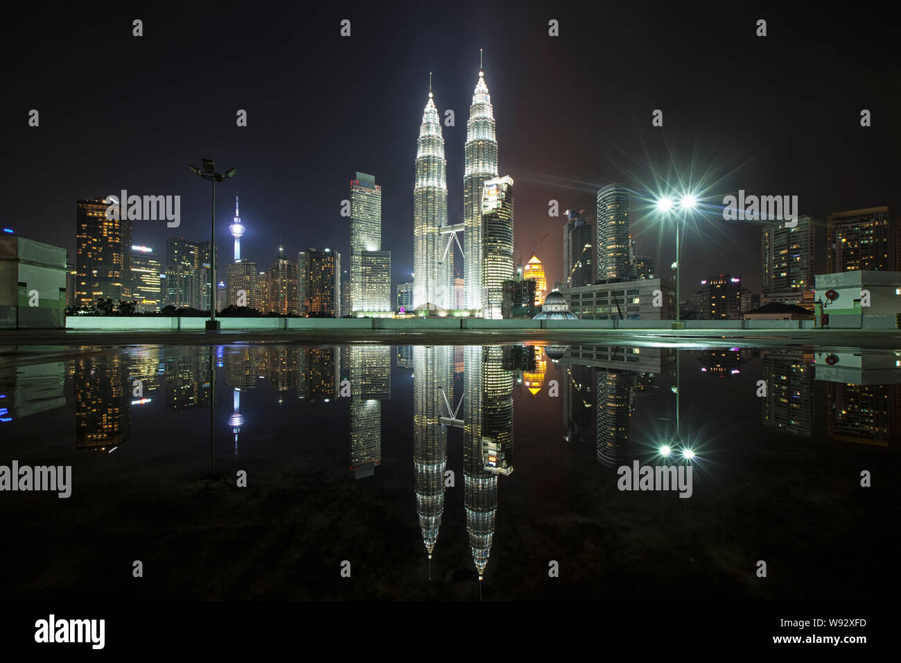 Caption Of Beautiful Night City Landscape Clicked By The