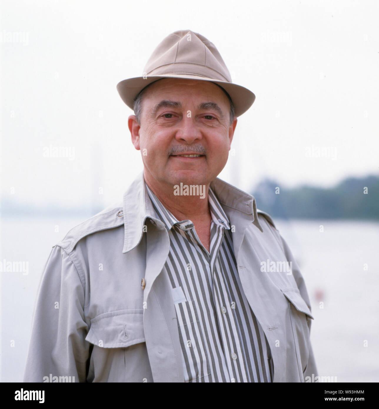 Porträtfoto des US-amerikanische Schauspieler John Hillerman, Deutschland ca. 1990er. Portrait photo of the US-American actor John Hillerman, Germany ca. 1990s. Stock Photo