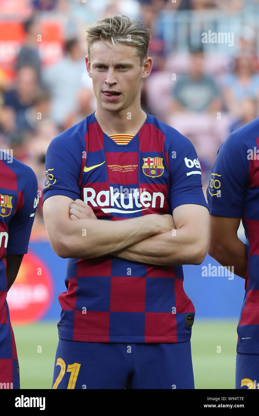 August 4 2019 Barcelona Spain Frenkie De Jong Of Fc Barcelona During The Joan Gamper Trophy