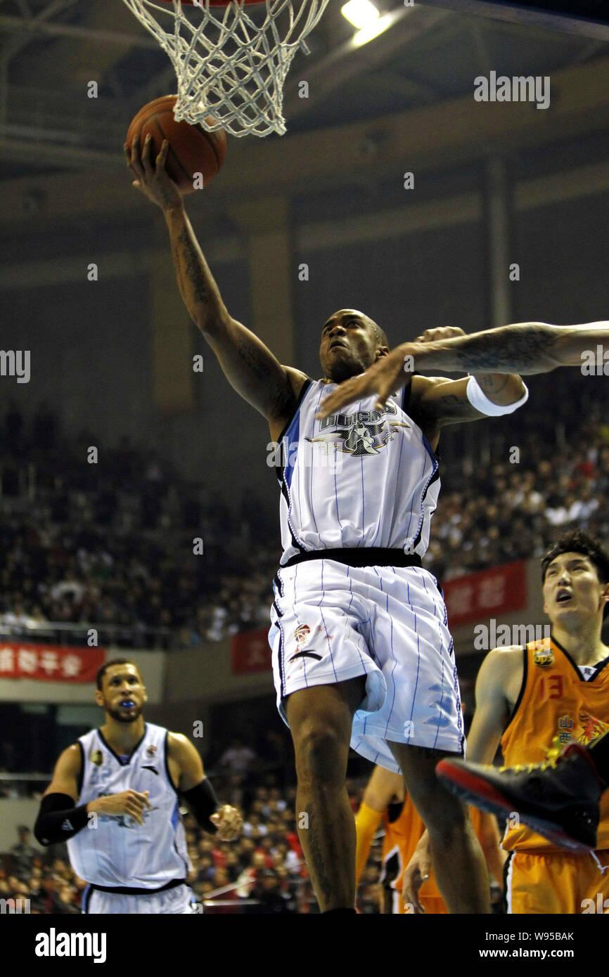 Stephon Marbury Of Beijing Ducks Top Jumps To Score