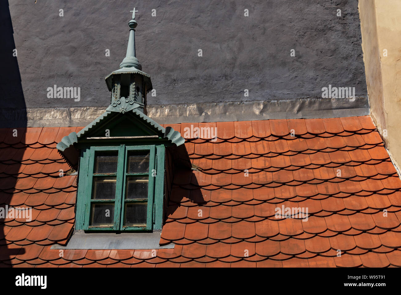 Medieval Wooden Roof Stock Photos Medieval Wooden Roof Stock