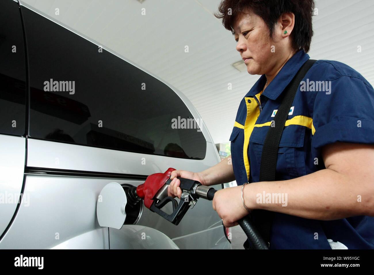 Chinese Petrol Station Stock Photos & Chinese Petrol Station