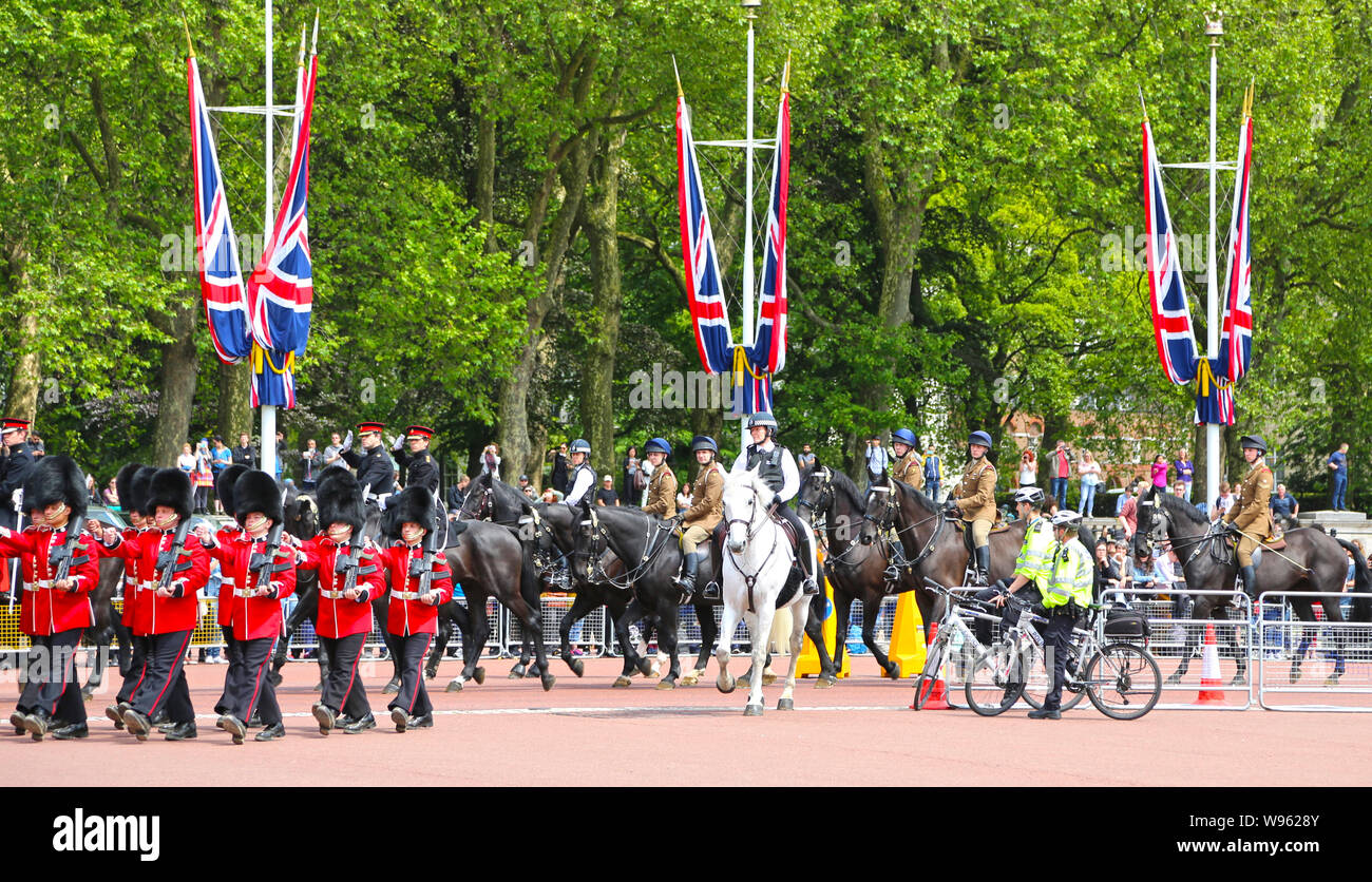 London, Great Britain -May 23, 2016: Changing the Guard at