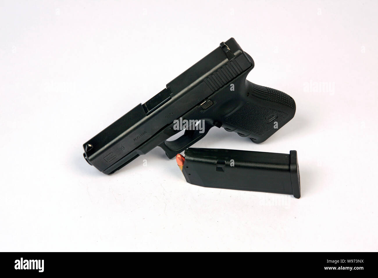 9mm Glock Pistol Stock Photos & 9mm Glock Pistol Stock