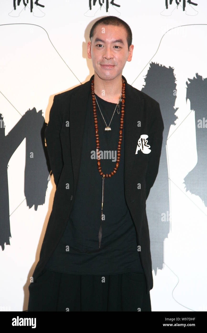 Hong Kong singer JunoMak poses as he attends the celebratory ceremony of the 6th anniversary of MILK X in Hong Kong, China, 18 September 2012. Stock Photo