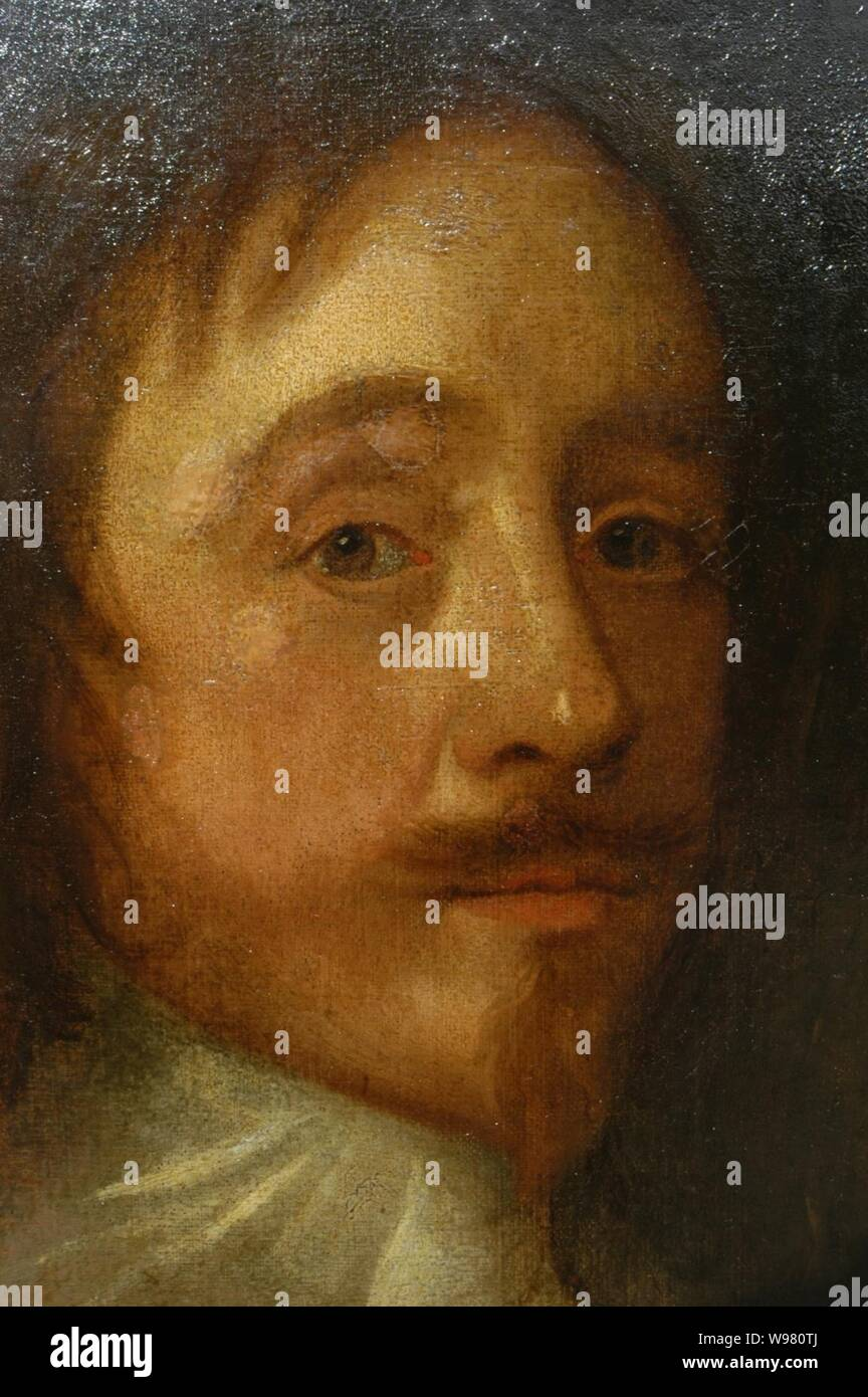 Detail of an oil on canvas portrait of Sir Mildmay Fane, KB, (1602-1666), 2nd Earl of Westmorland. Stock Photo