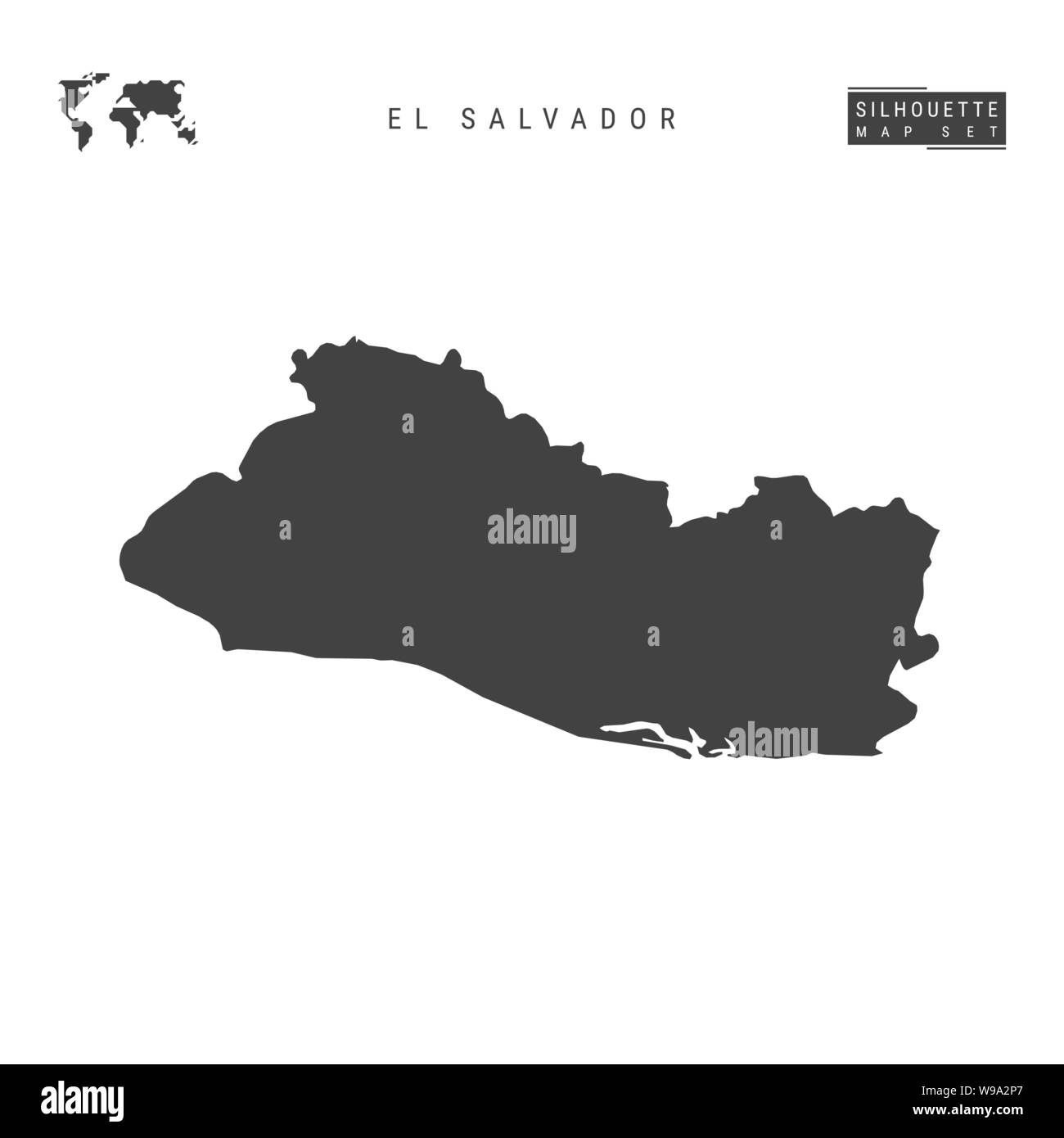 El Salvador Blank Vector Map Isolated on White Background ...