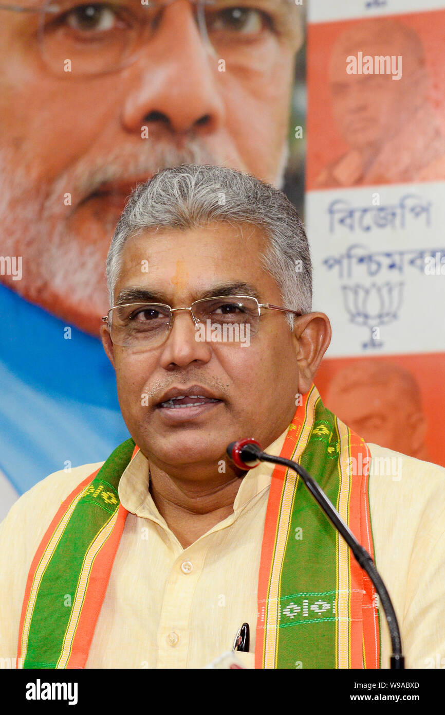 Kolkata, India  12th Aug, 2019  West Bengal BJP President