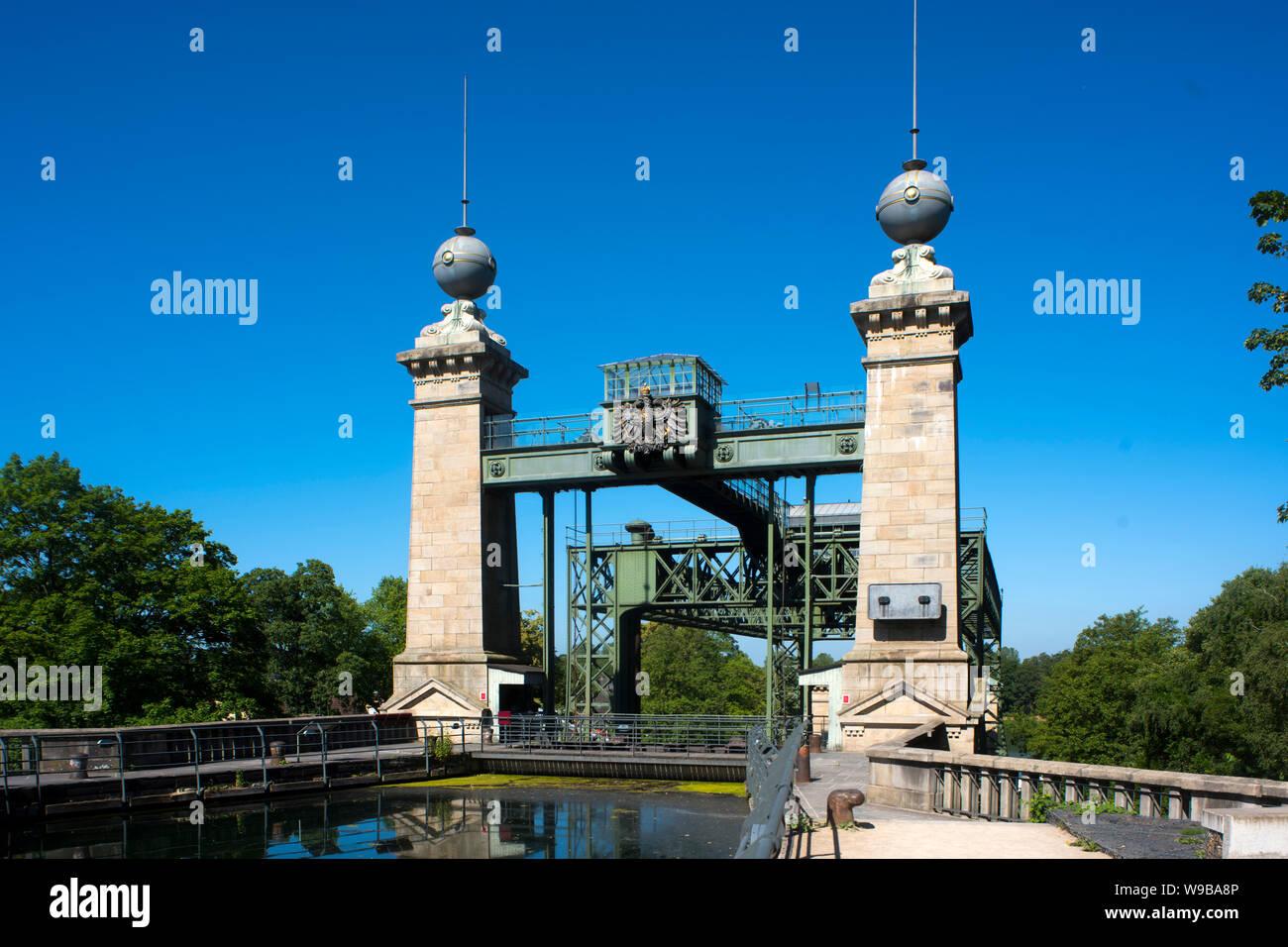 Deutschland, Ruhrgebiet, Kreis_Recklinghausen, Henrichenburg, Altes Schiffshebewerk (Ansicht von Osten) Stock Photo