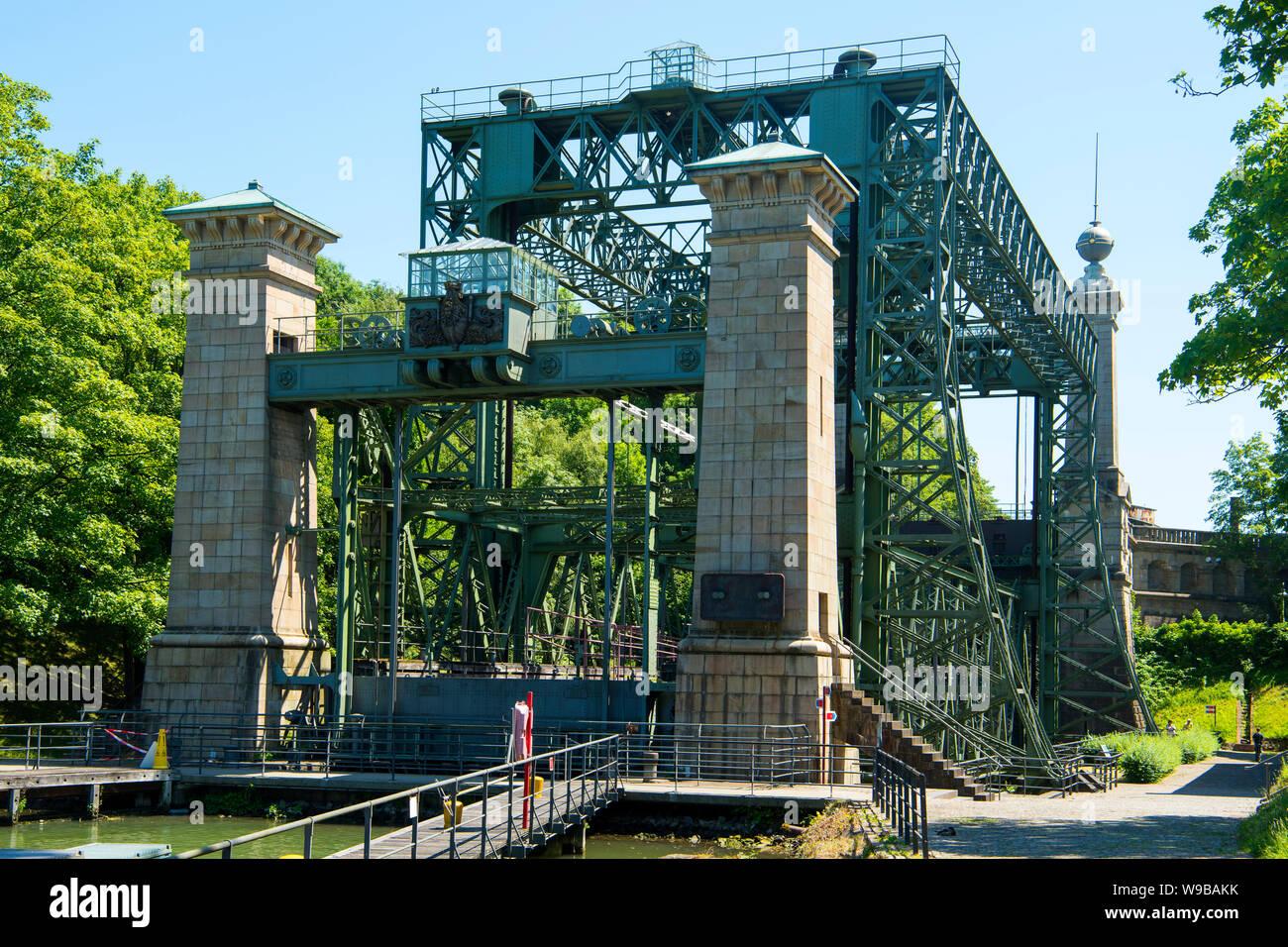 Deutschland, Ruhrgebiet, Kreis_Recklinghausen, Henrichenburg, Altes Schiffshebewerk (Ansicht von Westen) Stock Photo