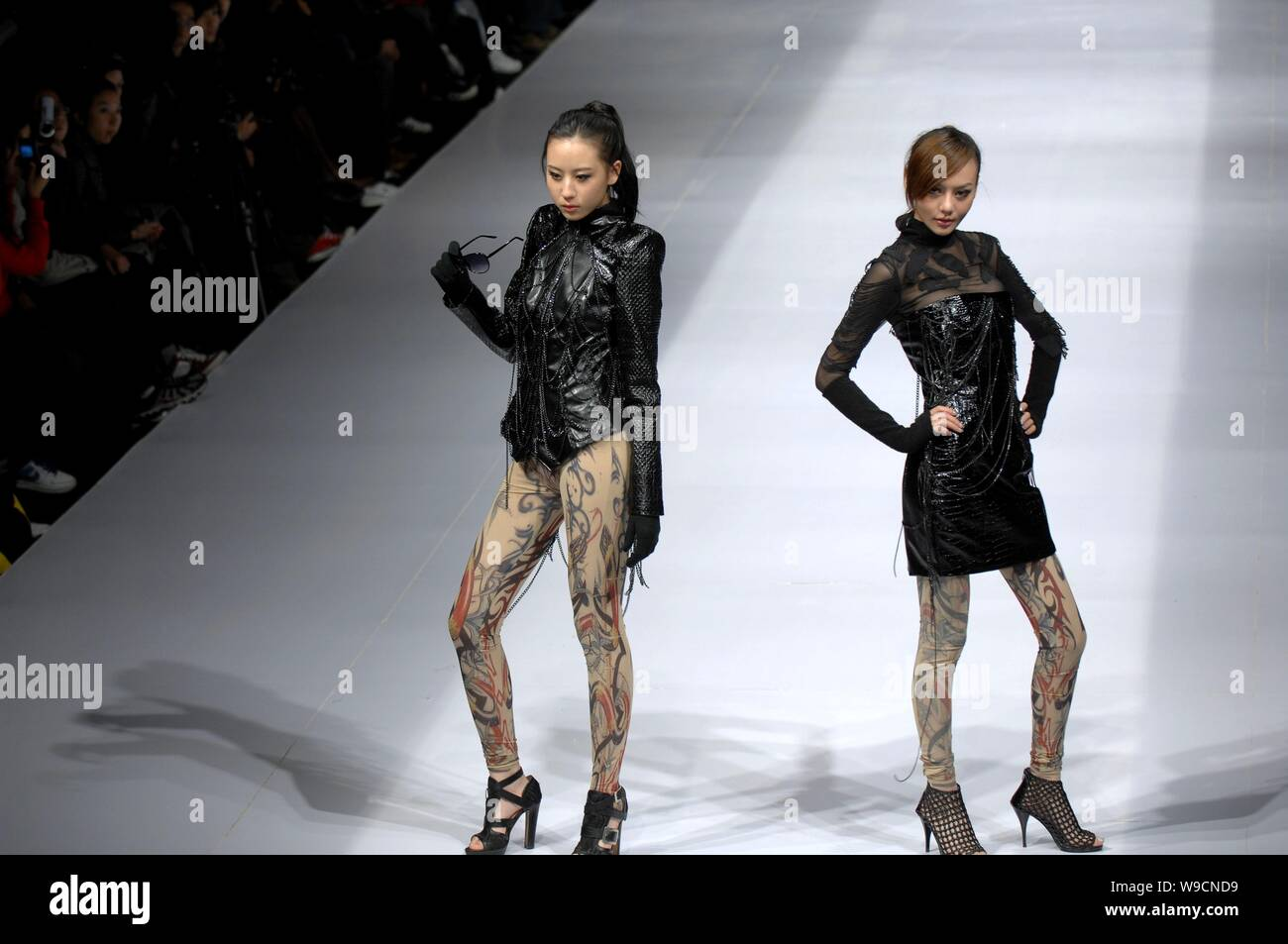 Chinese Models Parade At Raffles Design Institute Graduates Show During The China Fashion Week 2009 In Beijing China November 9 2009 Stock Photo Alamy