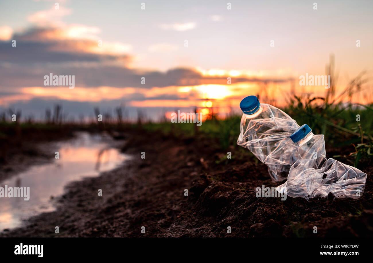 Environmental & Plastic Awareness. World Environment Day concept. Save earth save life. Stock Photo