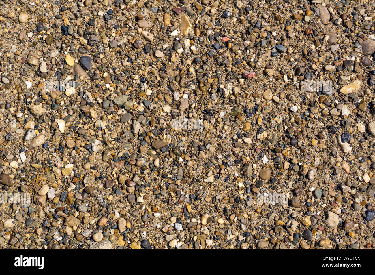 Background Texture Small Pebbles And Sand On The River Bank Stock Photo Alamy