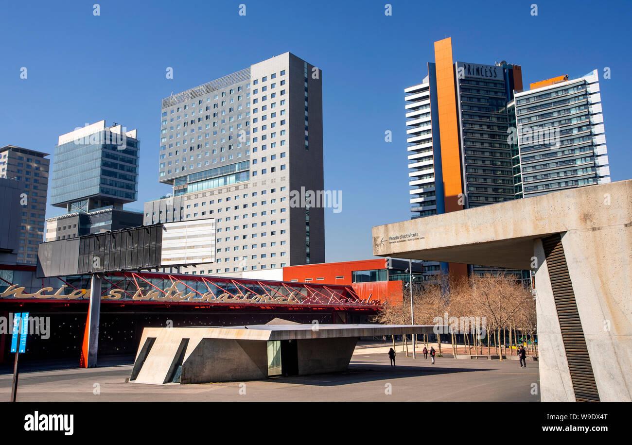 Barcelona City, Diagonal Mar District, Skyline Stock Photo