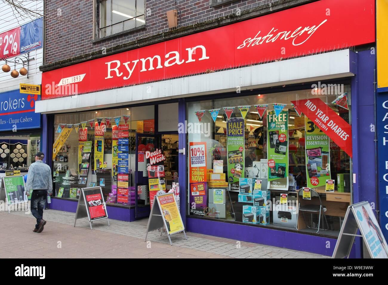 Ryman Stationery Store Stock Photos & Ryman Stationery Store