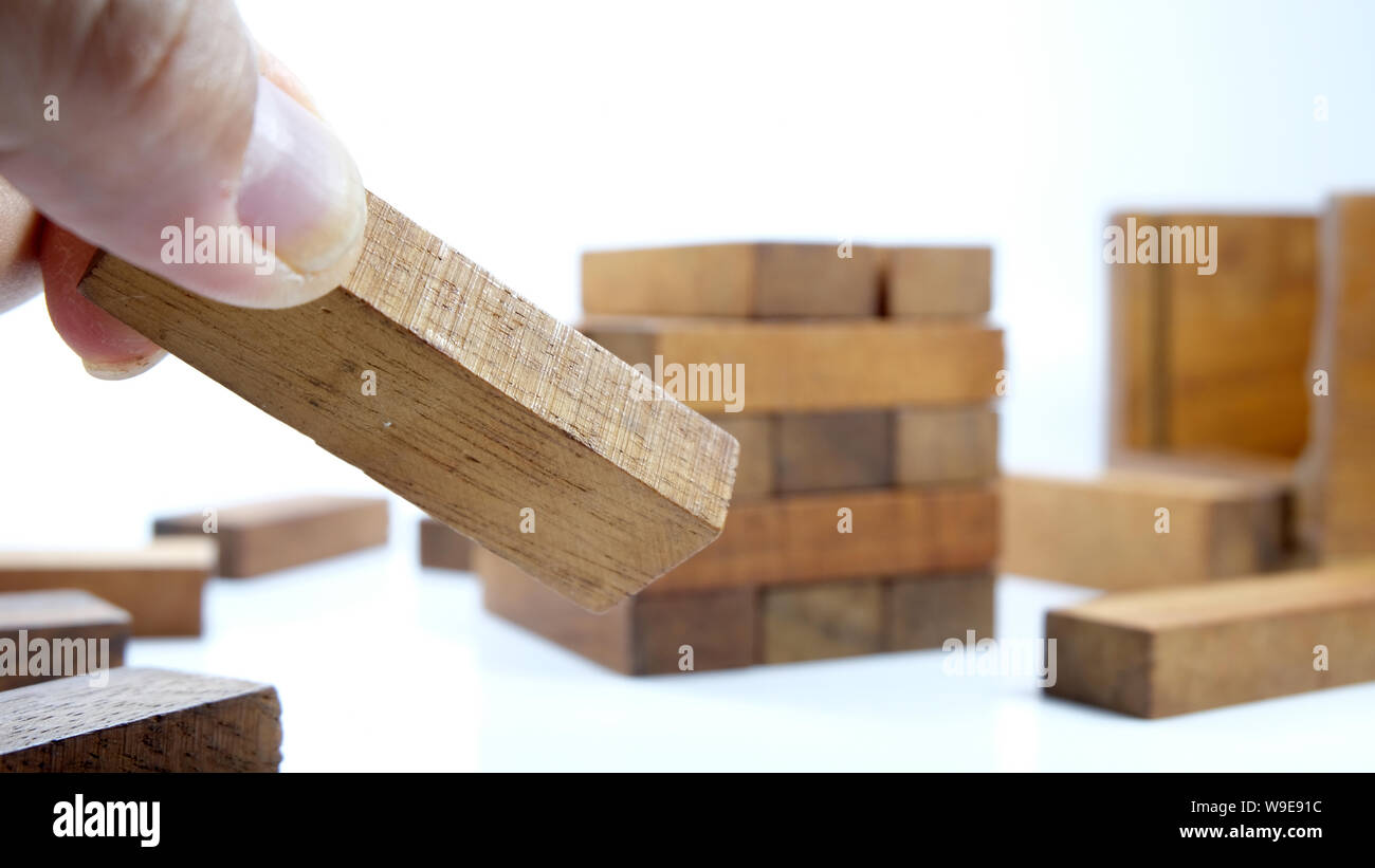 blocks wood tower game stock photos & blocks wood tower game