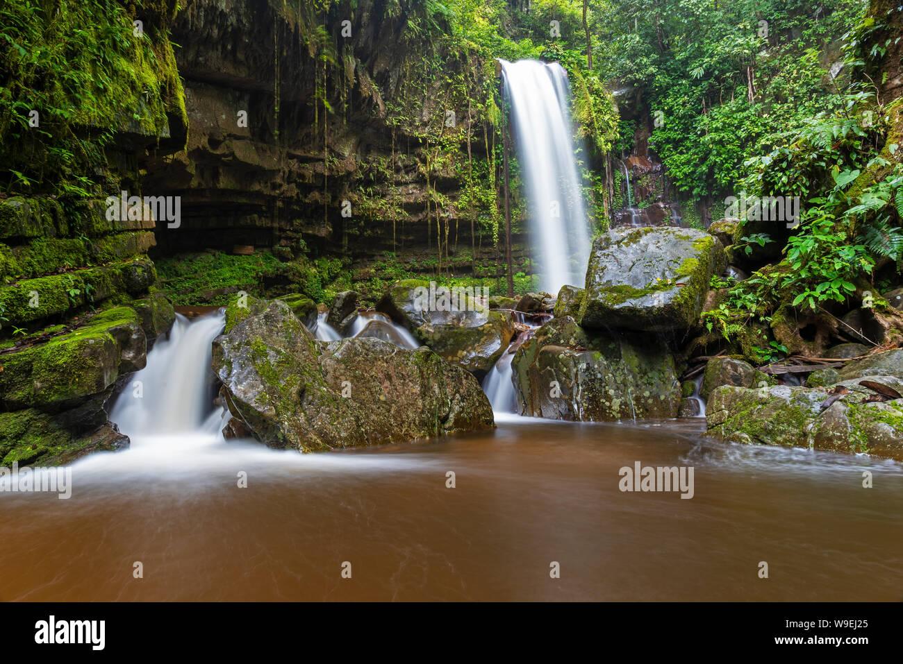 Mahua Waterfall In Crocker Range National Park Tambunan Sabah Borneo Malaysia Stock Photo Alamy