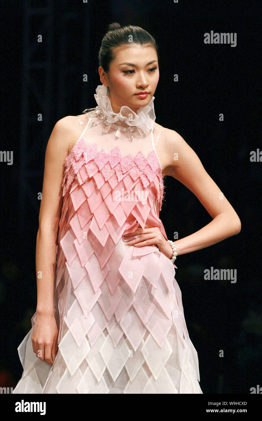 A Model Parades A Fashion Design From College Graduates Of Academy Of Art And Design Tsinghua University During The 10th China Fashion Week In Beijin Stock Photo Alamy