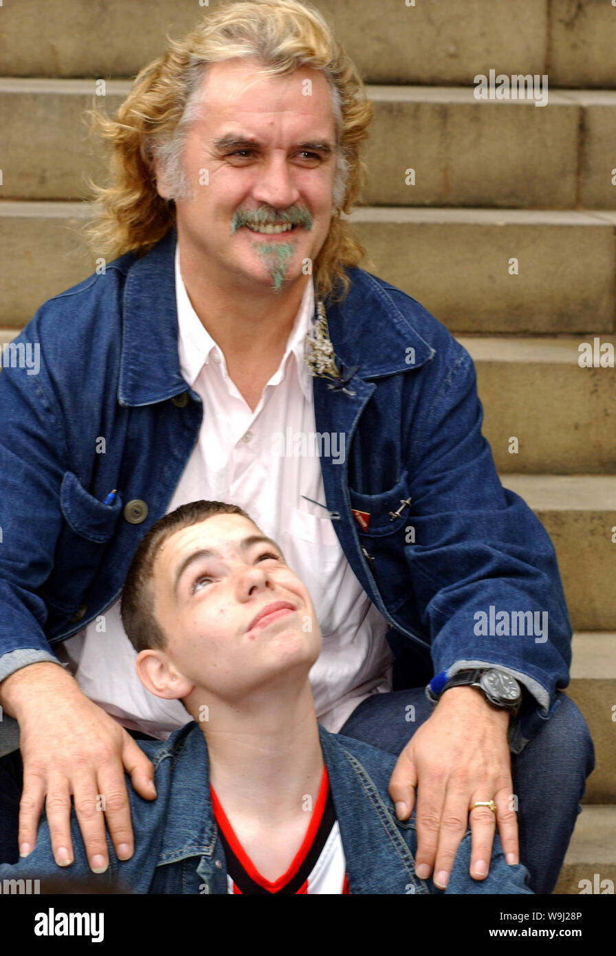 Pictured At Edinburgh S Sheraton Grand Hotel Today Monday 13 8 01 Are Stars Of The New Uk Film Gabriel And Me Billy Connolly And Sean Landless The Film Has It S Uk Premier