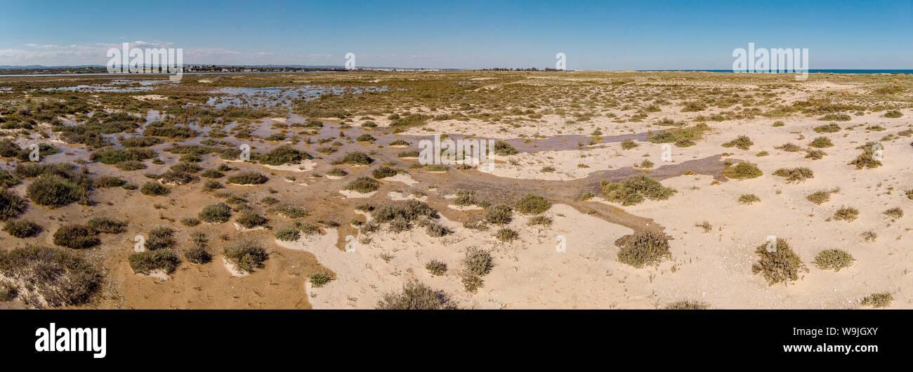 Ilha de Tavira - Barril, Santa Luzia,   , Algarve, Portugal, 30071474 *** Local Caption *** landscape, spring, aerial photo, Stock Photo