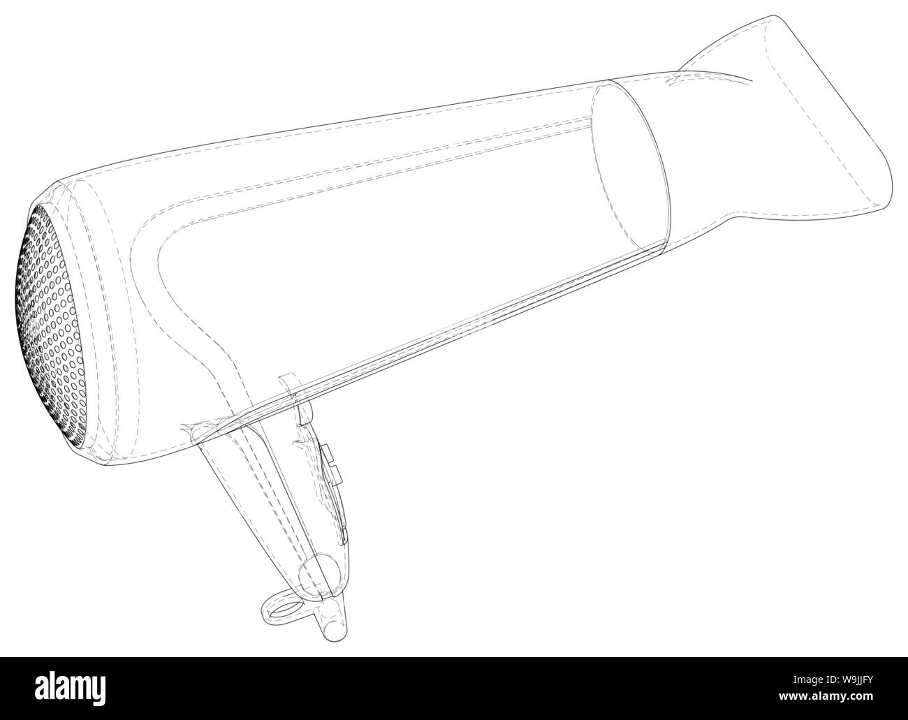 Blow Dry Hair Black and White Stock Photos & Images - Page 2 ... Hair Dryer Wiring Schematic on