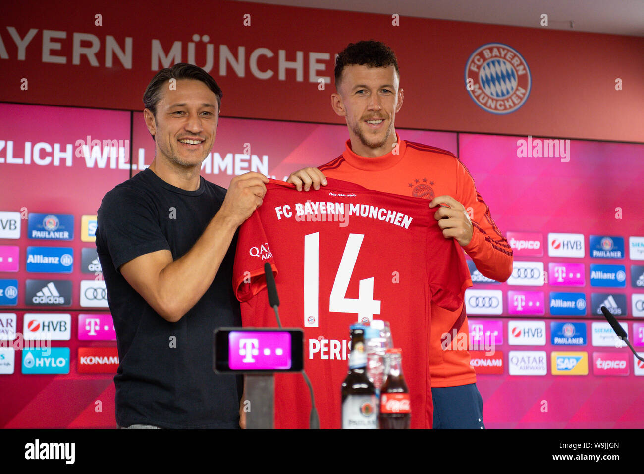Munich Deutschland 14th Aug 2019 Niko Kovac Coach Bayern Munich With Ivan Perisic Fc Bayern Munich