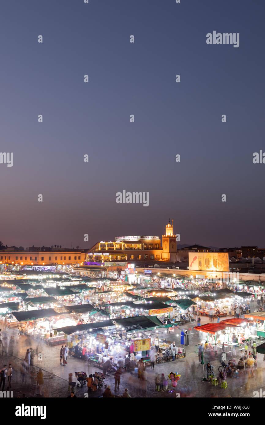 Marrakesh Medina at night. Stock Photo