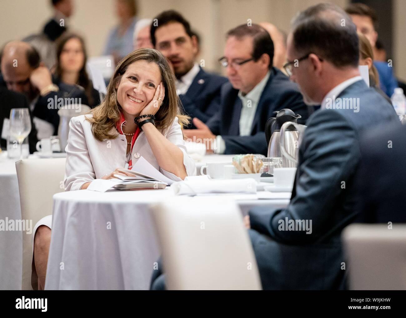 Toronto, Canada  14th Aug, 2019  Heiko Maas (r, SPD