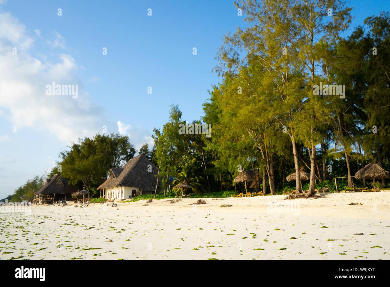 Resort village on the East Coast of Zanzibar Stock Photo