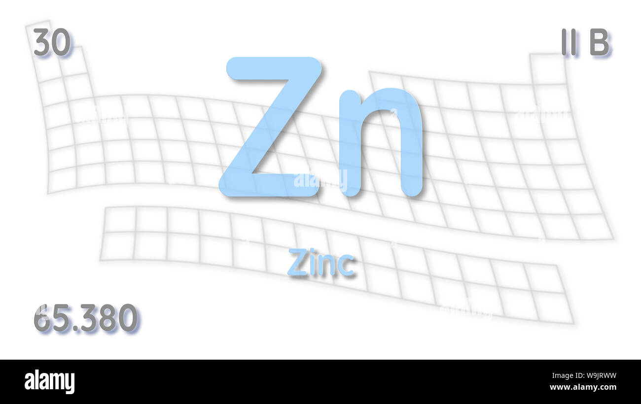 Zinc Atomic Structure Stock Photos & Zinc Atomic Structure