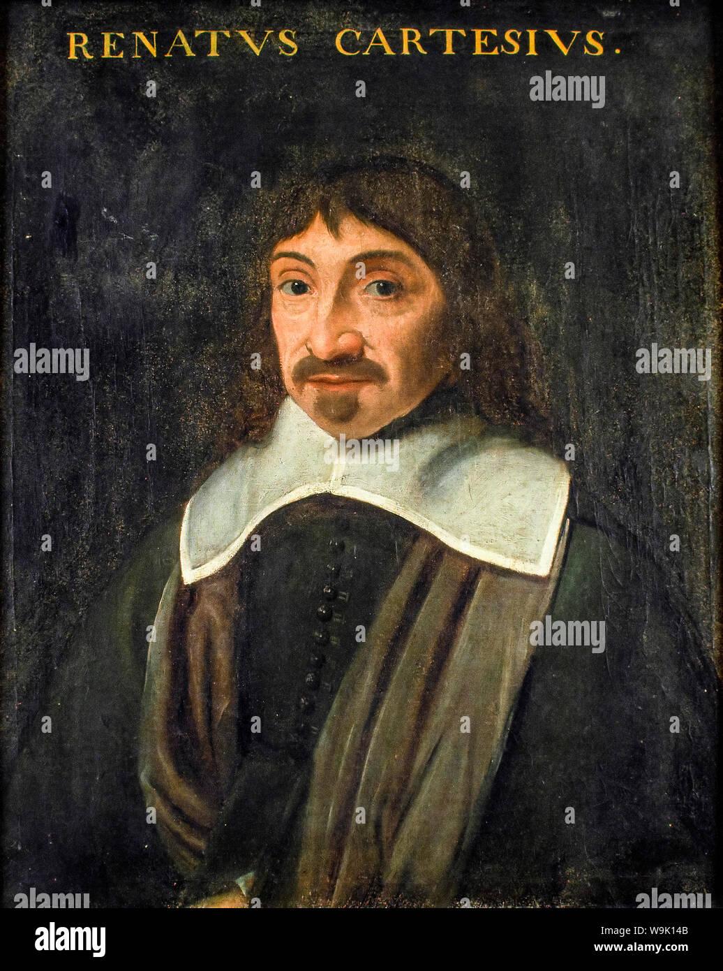 René Descartes (1596-1650), portrait painting, 1600-1650 Stock Photo