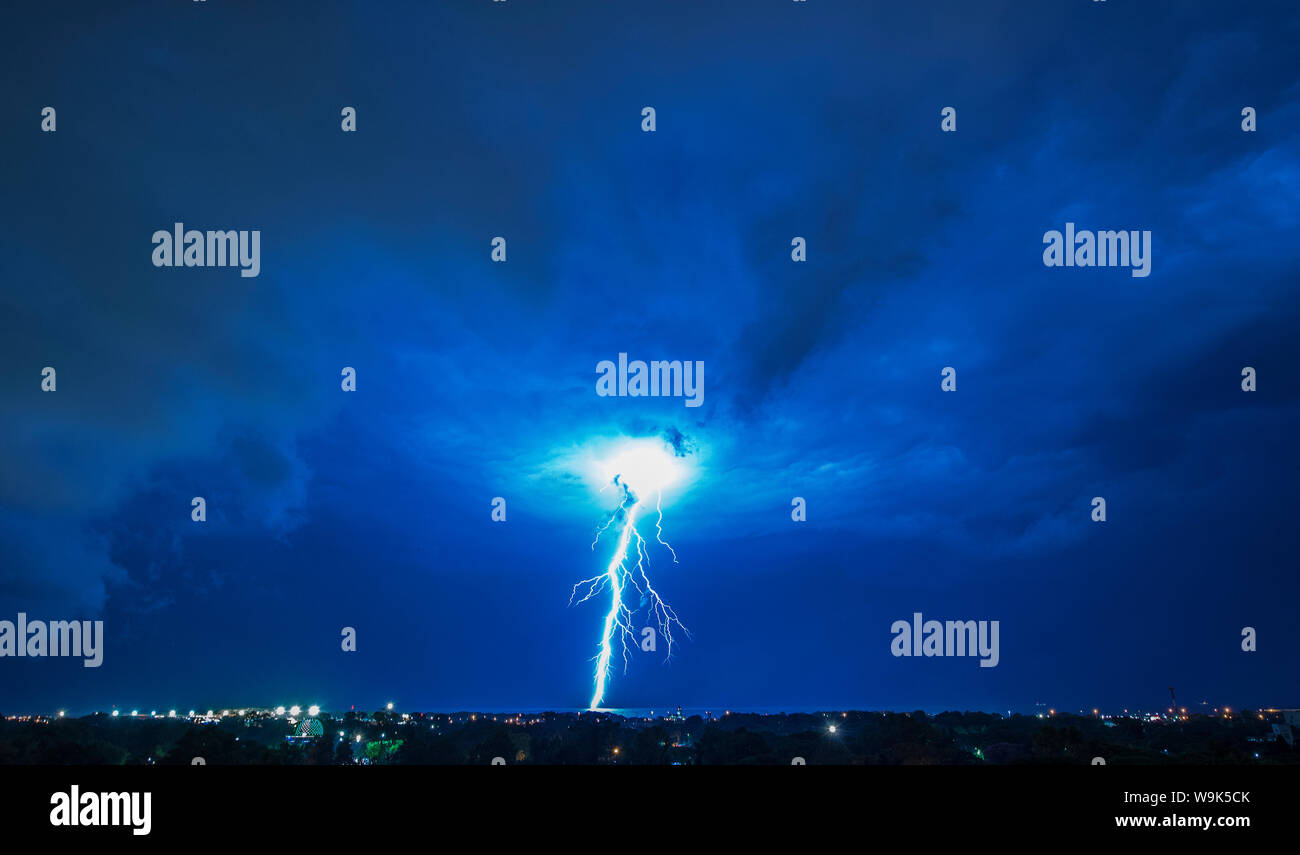Lightning and storm, Buenos Aires, Argentina, South America Stock Photo
