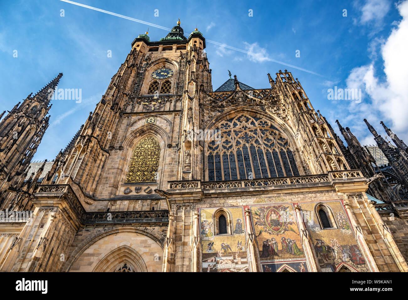 St. Vitus Cathedral. Prague, Czech Republic. Stock Photo