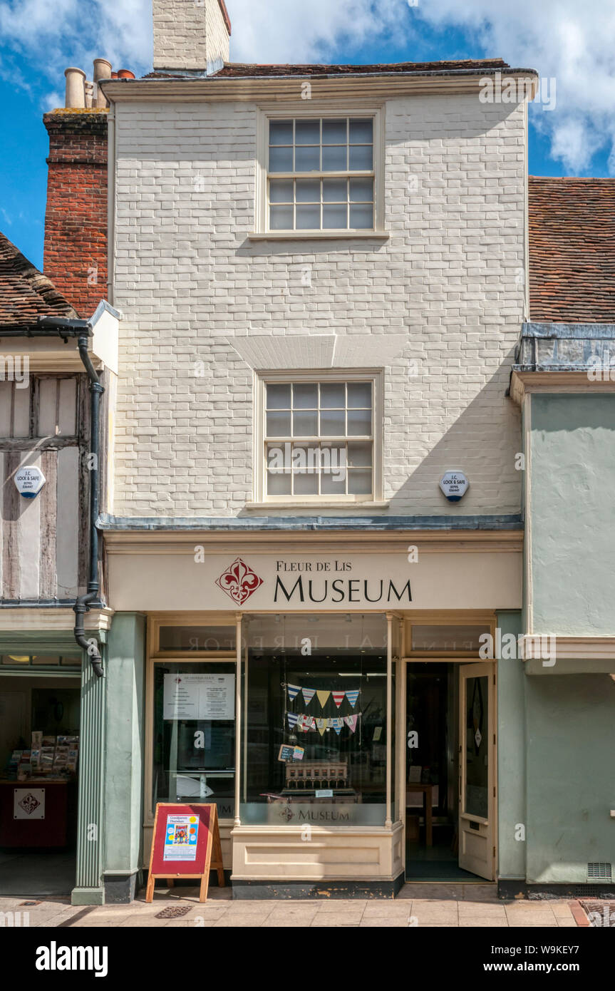 The Faversham Society Fleur de Lis Museum in Preston Street, Faversham. Stock Photo