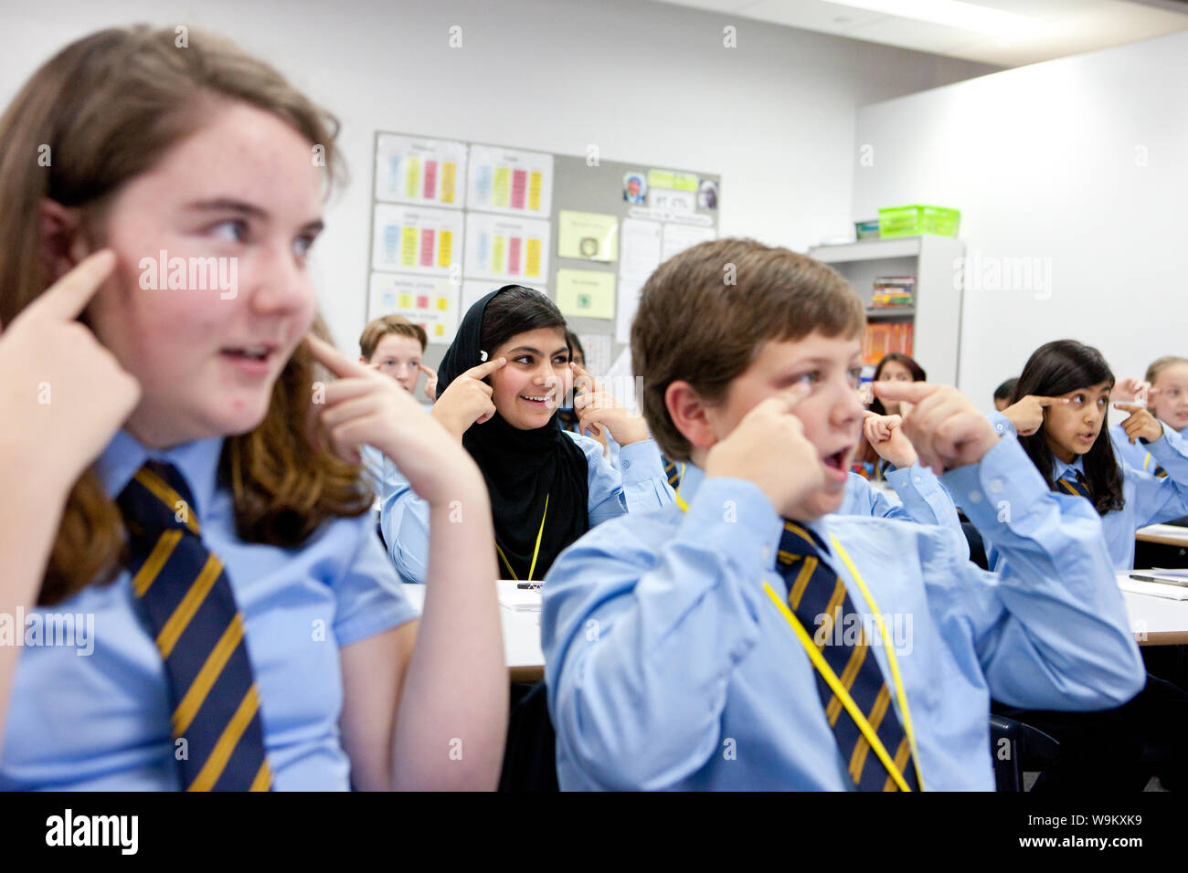Education Uk Modern Students Classroom Stock Photos