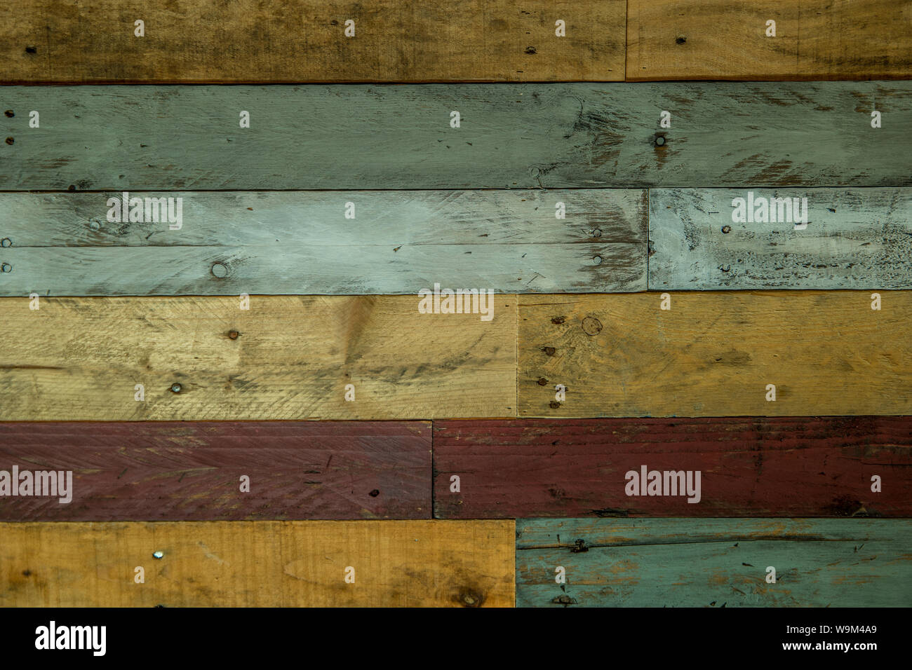 Rustic Pallet Wood Wall With White Red Grays And Tan Colors For Backgrounds Displays Flat Lays Or Copy Space Use Stock Photo Alamy