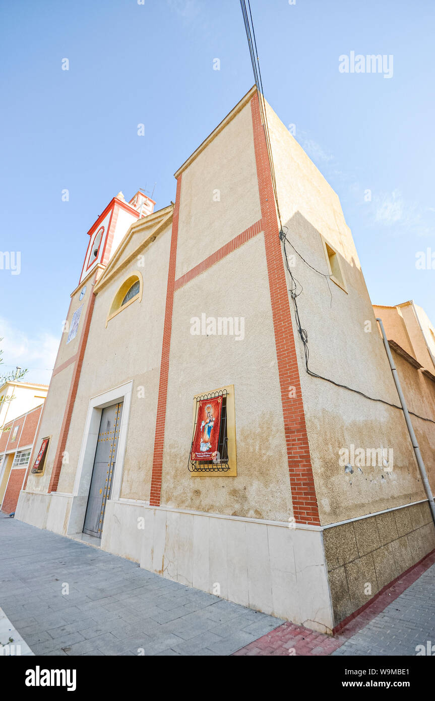 Our Lady of the Rosary, Virgen del Rosario 75th anniversary, in Rojales village in the province of Alicante and community of Valencia, Spain. Stock Photo