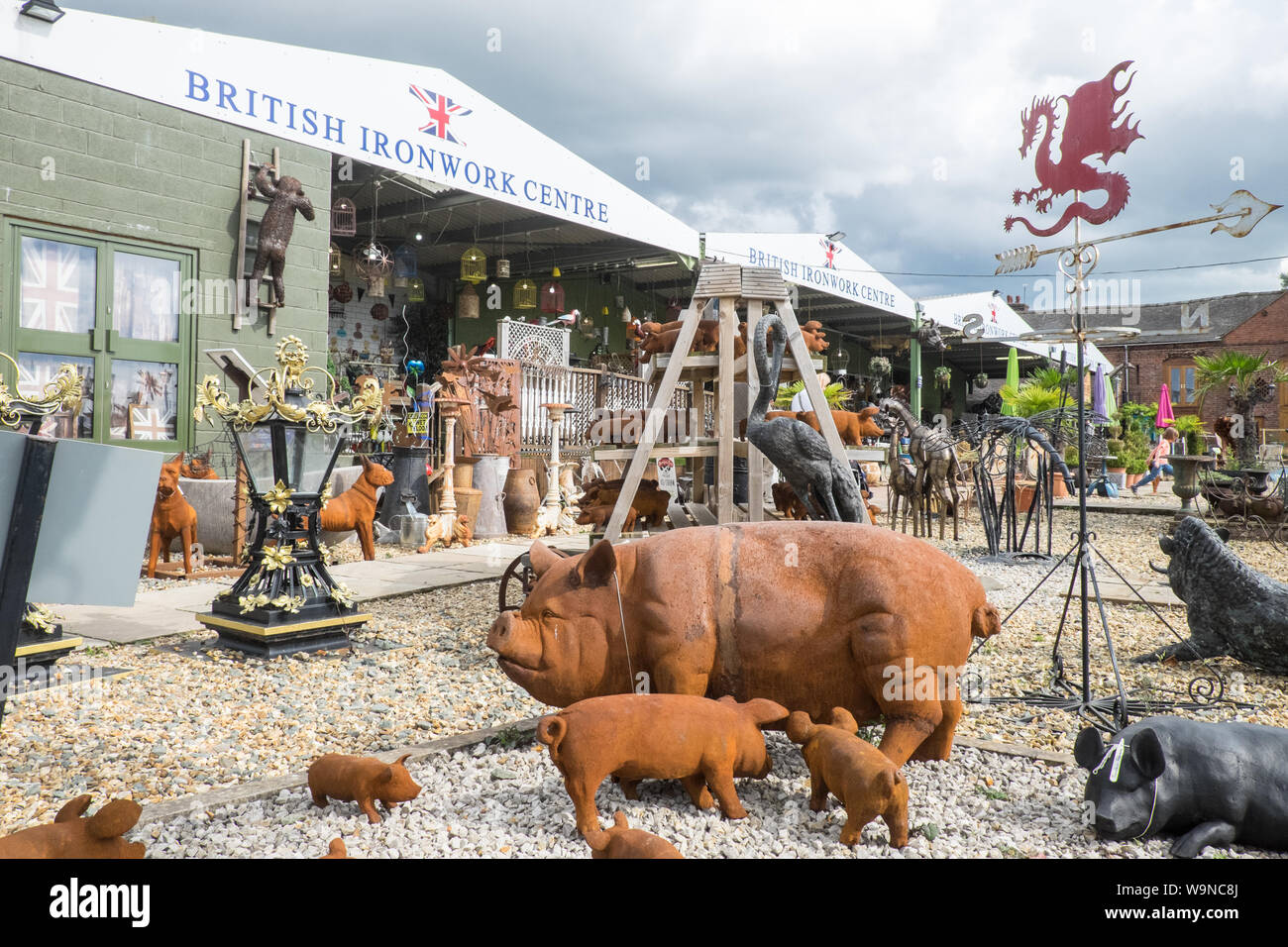 British Ironworks Centre and Shropshire Sculpture Park,off A5 road,Morda,Oswestry,Shropshire,England,Wales,Welsh,border,UK,GB,English,British, Stock Photo