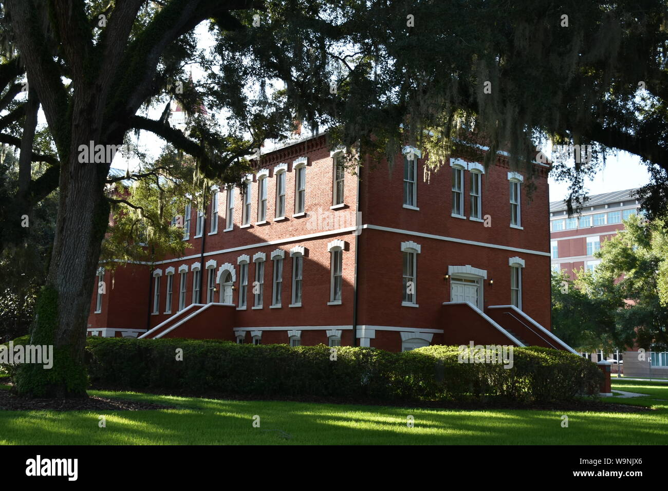 I created this architectural photograph of the Historic Osceola County Courthouse in 2019. This is the oldest functioning Courthouse in Florida. Stock Photo