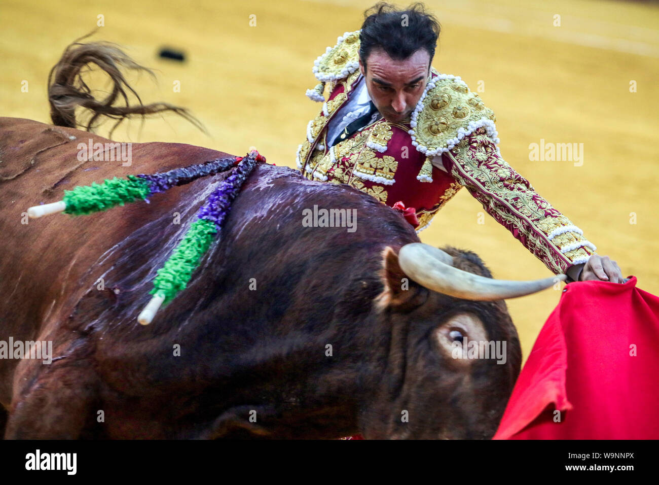August 14, 2019: 14 augut 2019 (Malaga)Inaugural bullfight of the 145th anniversary of the bullring of La Malagueta,(Malaga) In the photo the torero Enrique Ponce. Credit: Lorenzo Carnero/ZUMA Wire/Alamy Live News Stock Photo