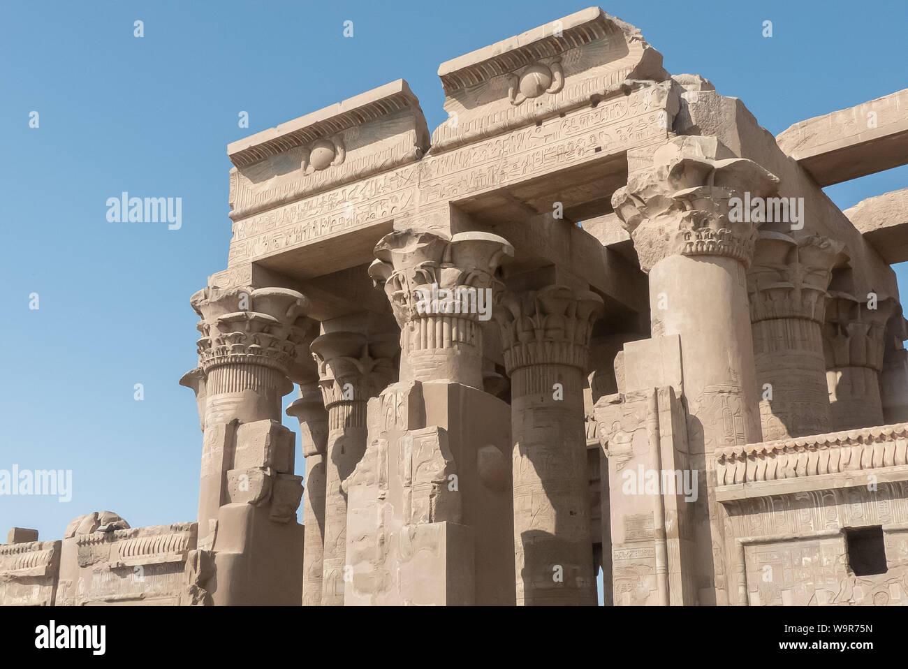 Kom Ombo in Egypt: the Sobek Temple Stock Photo
