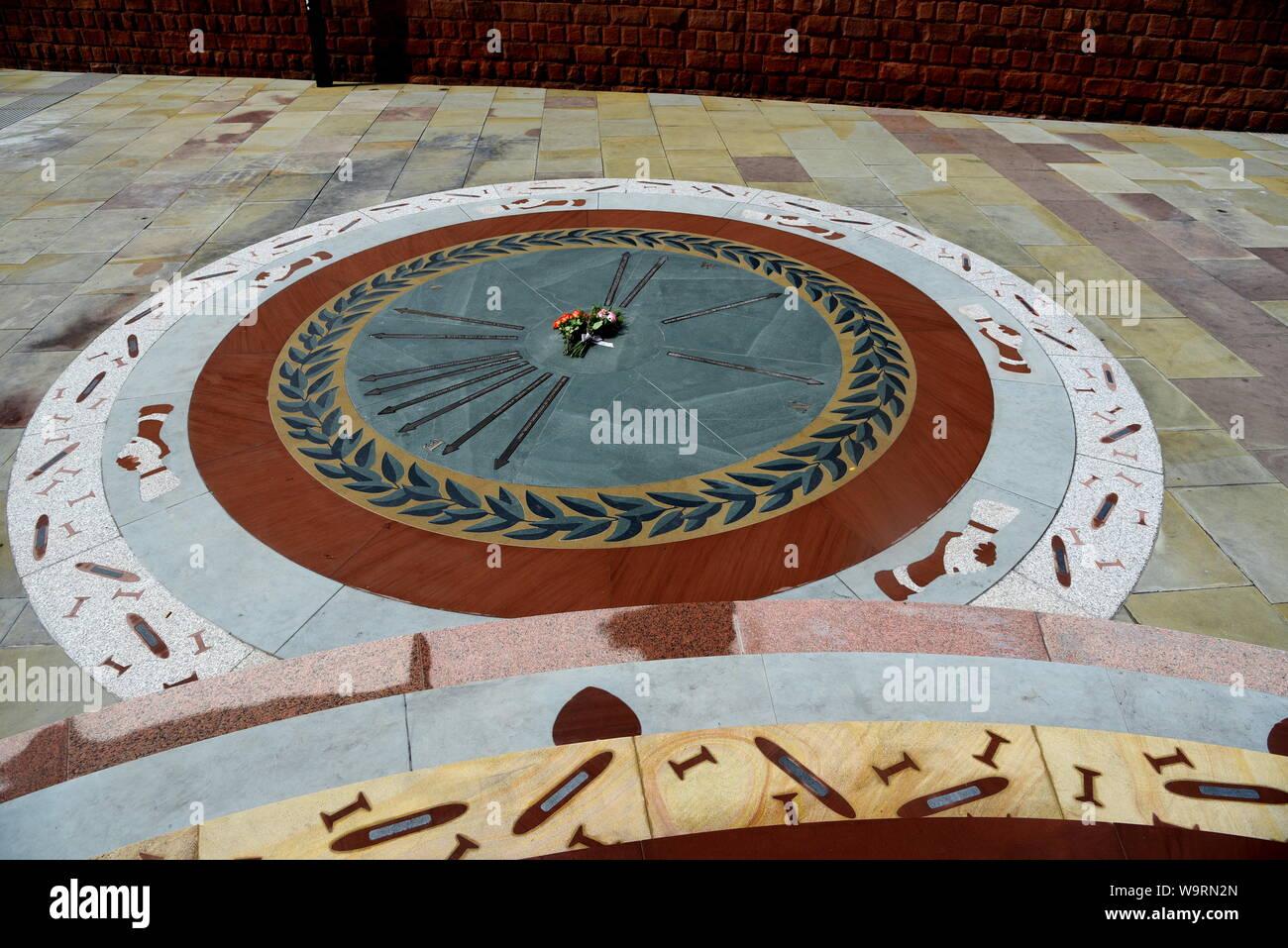 Peterloo memorial in Manchester Stock Photo