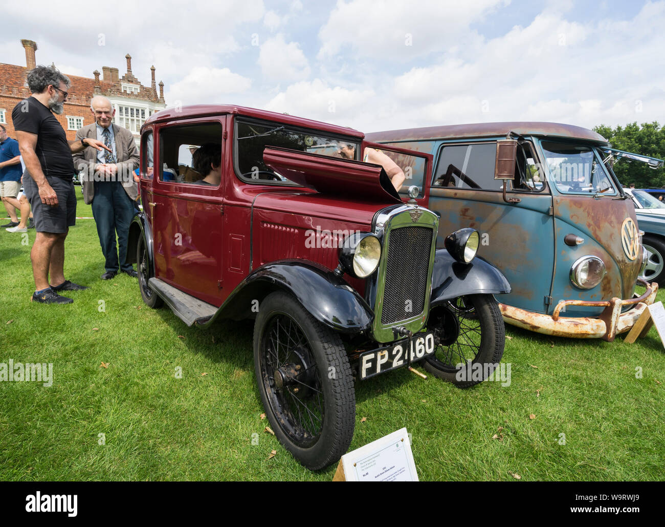 1931 Austin Seven Delux Saloon at The Helmingham Festival of Classic & Sports Cars 2019 Stock Photo